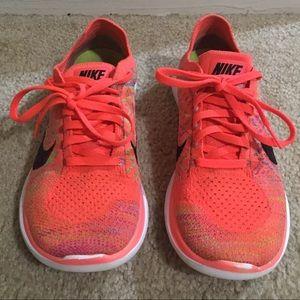 Nike Free Flyknit 4.0 717076-800 Size 6.5